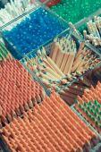 Fondo de lápices de colores para la creatividad closeup — Foto de Stock