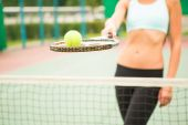 Tennis background — Stock Photo