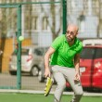 Man play tennis outdoor — Stock Photo #71276513