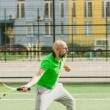 Man play tennis outdoor — Stock Photo #71276699