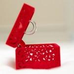 Wedding Ring in Red Velvet Silk Box — Stock Photo #72846883