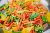 Stir fry vegetables as a background — Stock Photo