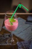 Fruit shake with strawberries and banana — Stock Photo