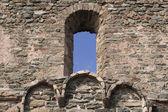 Gammalt slott fönster — Stockfoto