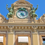 Monaco Grand Casino Clock — Stock Photo #71642341