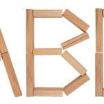Wooden blocks - ABC — Stock Photo #71648109