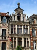 Brussels houses — Stock Photo