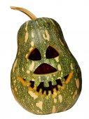 Pumpkin halloween green — Stock Photo