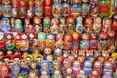 Moscow, Matryoshka at Russian market — Stock Photo