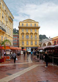 Nice - gammal byggnad i Cours Saleya — Stockfoto