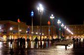 Nice - Place Massena v noci — Stock fotografie