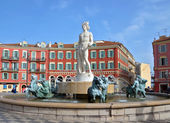 City of Nice - Fountain Soleil — Stock Photo