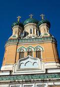Nice - Russian Orthodox church — Stock Photo
