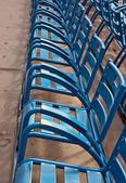 City of Nice - Chairs on Promenade des Anglais — Stock Photo