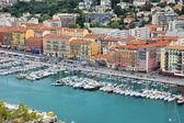 Nice - Aerial view of the Port de Nice — Stock Photo