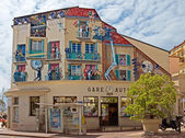 Cannes - Art painting on the wall — Stockfoto