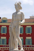 City of Nice - Statue of Apollo on the Place Massena — Stock Photo