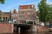 Amsterdam - Canals and typical dutch houses — Stock Photo