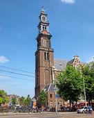 Amsterdam - Wester Tower - Westerkerk — Stok fotoğraf