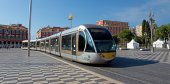 Nice - Tram in the city — Stock Photo