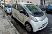 City of Nice - Electric cars — Stock Photo