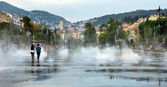 City of Nice - Lovely fountain — Stock Photo