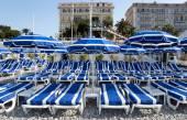 City of Nice - Beach with umbrella — Zdjęcie stockowe