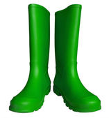 Rubber boots - green — Stock Photo