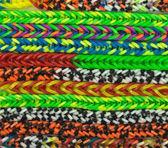 Contexte de métier à tisser en caoutchouc — Photo