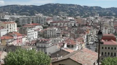 Cannes - view at old city — Stock Video
