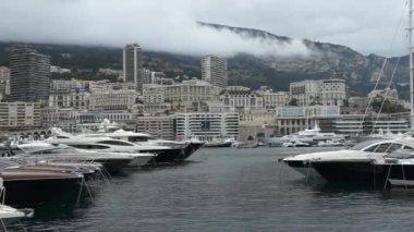 Monaco - harbour — Stock Video