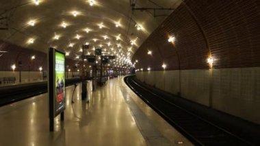 Monaco - Train station Monaco-Ville — Stock Video