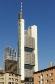 The Commerzbank tower — Stock Photo