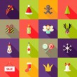Christmas Square Flat Icons Set 3 — Stock Vector #57635815