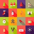 Christmas Square Flat Icons Set 4 — Stock Vector #57635817