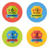 Warranty Flat Circle Icons Set 3 — Stock Vector