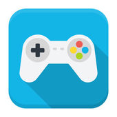 Game console flat app icon with long shadow — Stockvektor