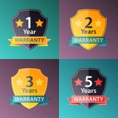Warranty signs set in halftone texture style — Stock Vector