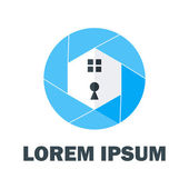 Blue Home Logo — Stock Vector