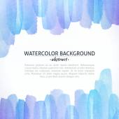 Watercolor Blue and Purple Abstract Background — Stock Photo