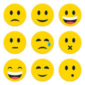 Character Emotions Happy and Sad Vector Icons Set Isolated over  — Stock Vector