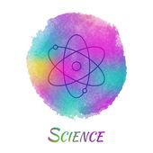 Science Vector Watercolor Concept — Stock Vector