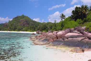 Tropical coast, gulf Baie Lazare. Mahe, Seychelles