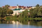 Lake and Apanaevskaya Mosque. Kazan, Tatarstan — ストック写真