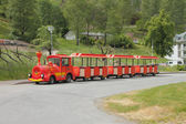 Excursion road train. Flom, Norway — Stok fotoğraf