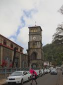 Belltower of cathedral of Immaculate Conception. Castries, Saint Lucia — Stock Photo