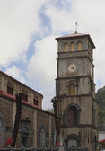 Belltower of Basilica of Immaculate Conception. Castries, Saint-Lucia — Stock Photo