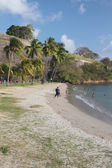 Beach at fortress walls Fort Saint-Louis. Fort-de-France, Martinique — Stock Photo