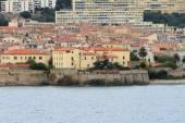 Fort of ancient fortress and city. Ajaccio, Corsica, France — Foto de Stock