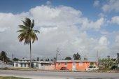 Houses along Spring Garden Highway. Bridgetown, Barbados — Stock Photo